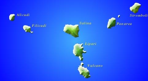 mapp aarcipelago isole eolie